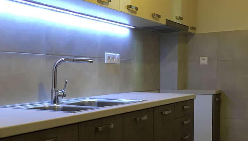 φωτισμός κουζίνας με LED