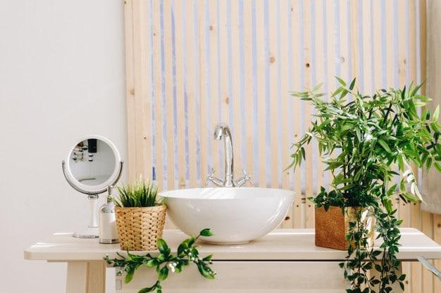 Ανανέωη μπάνιου με φυτά