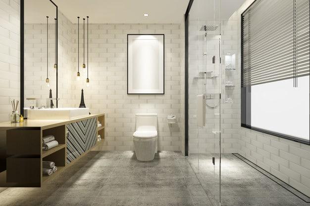 πολυτελές και όμορφο μπάνιο